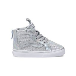 VANS Toddler Metallic Glitter SK8-Hi Zip